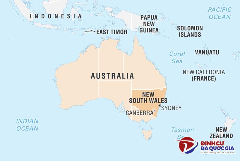 Vị trí bang New South Wales (NSW)