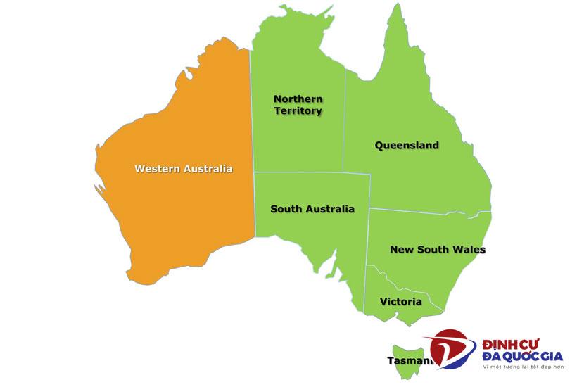Vị trí bang Western Australia
