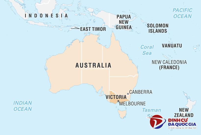 Vị trí bang Victoria